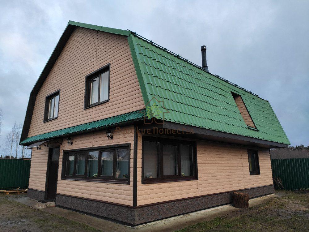 Завершен монтаж винилового сайдинга в посёлке Шум