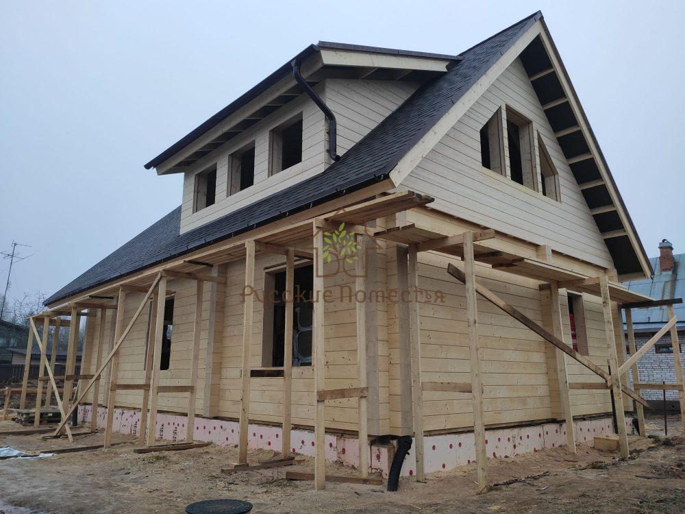 Завершили строительство дома из клееного бруса в посёлке Мшинская