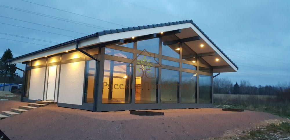 Завершили строительство фахверкового дома в посёлке Тяглино