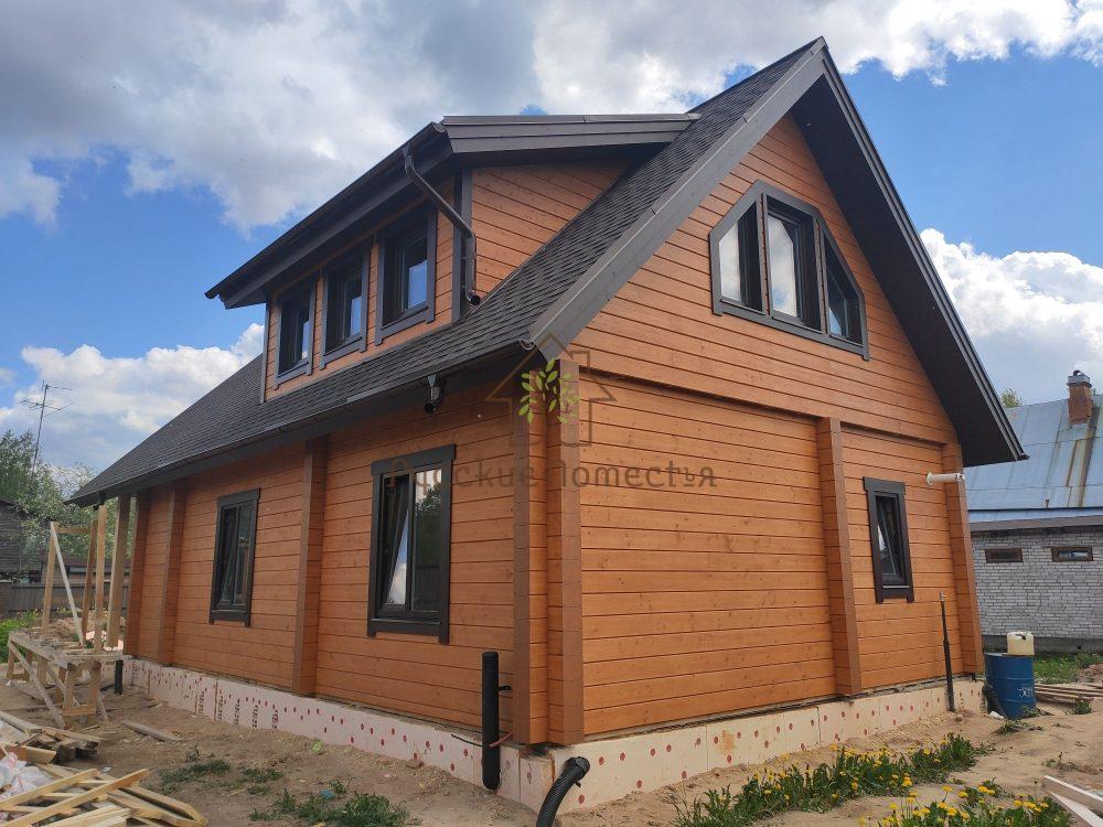 Завершили строительство комбинированного дома под ключ в Мшинской