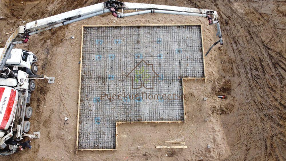 Завершили строительство жб фундамента по забивным сваям Всеволожск