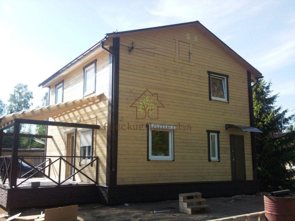 Завершено строительство дома из сухого профилированного бруса