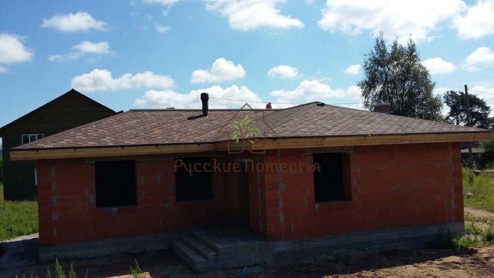 Завершено строительство дома из поризованного кирпича