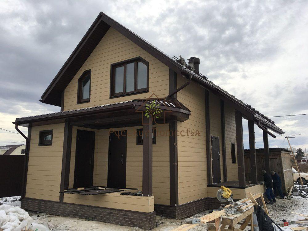 Завершено строительство каркасного дома в поселке Кондакопшино