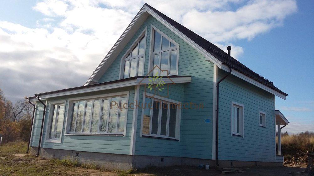 Завершено строительство каркасного дома в посёлке Стеклянный