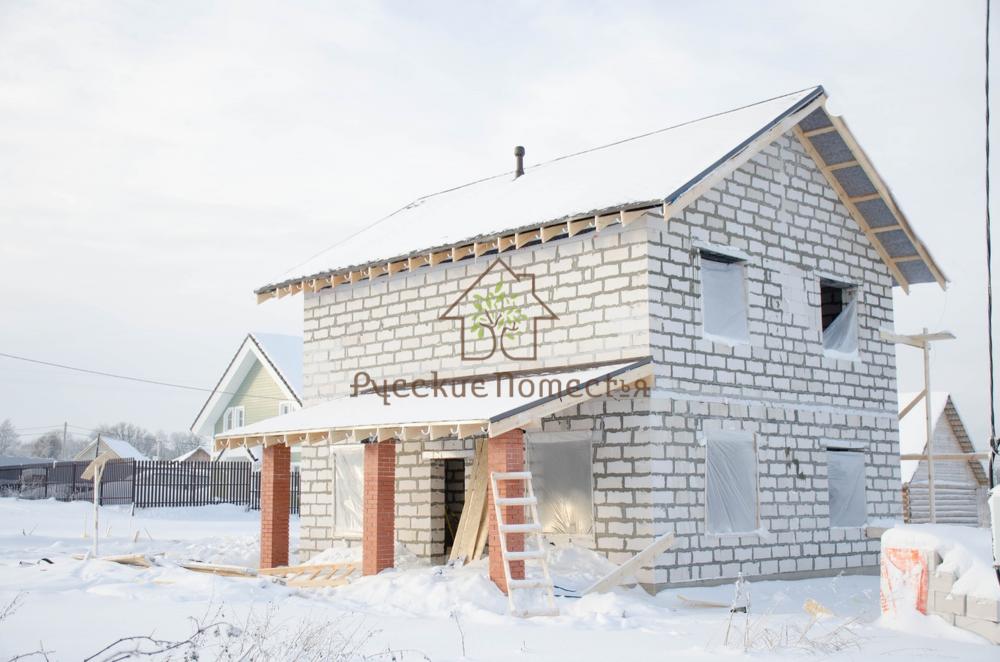 Завершено строительство дома из газобетона