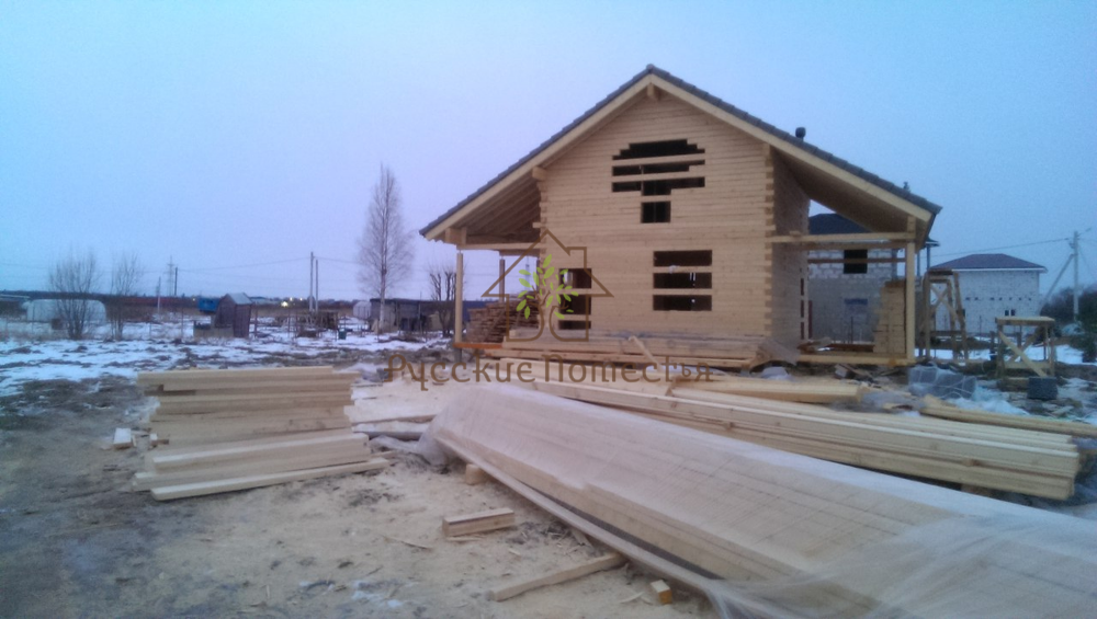 Завершено строительство дома из профилированного бруса