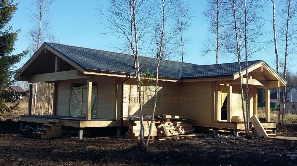 Завершено строительство дома из клееного бруса