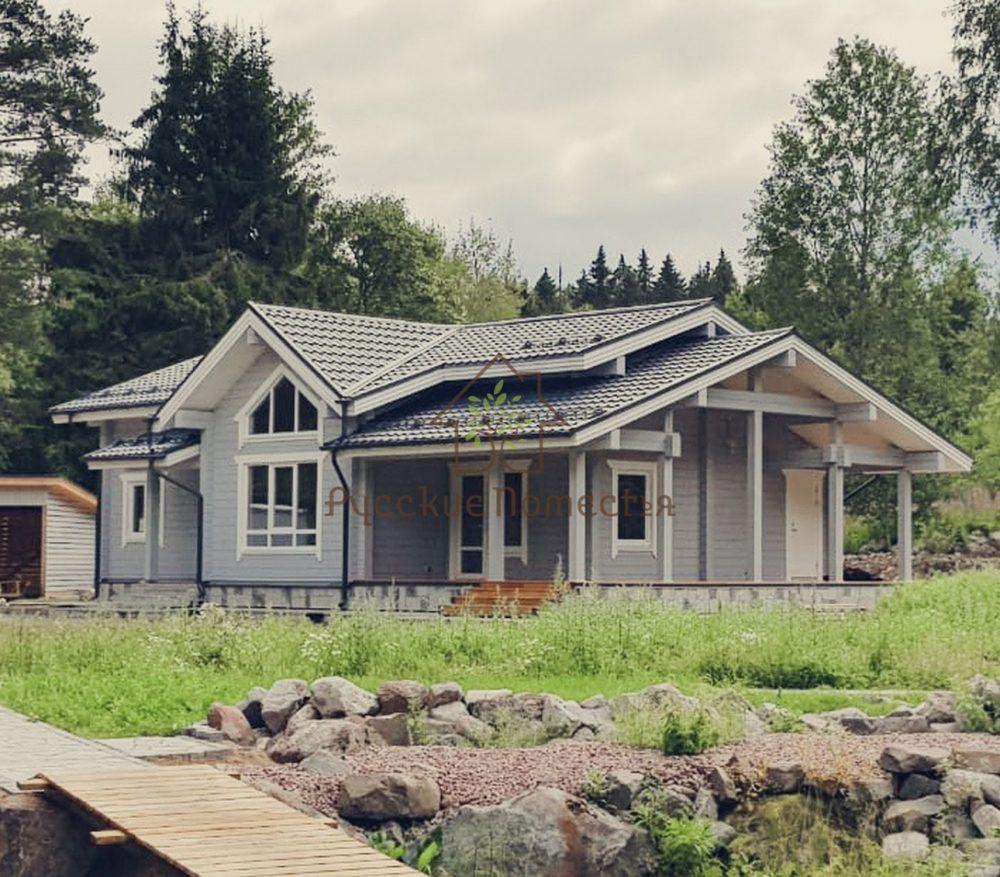Завершено строительство дома из клееного бруса под ключ
