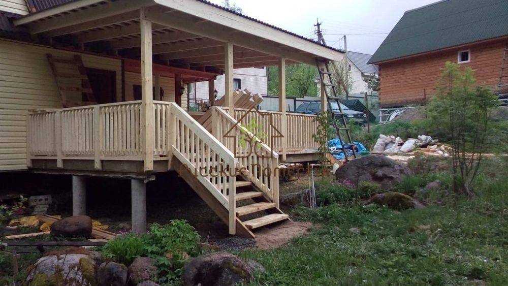 Завершено строительство террасы