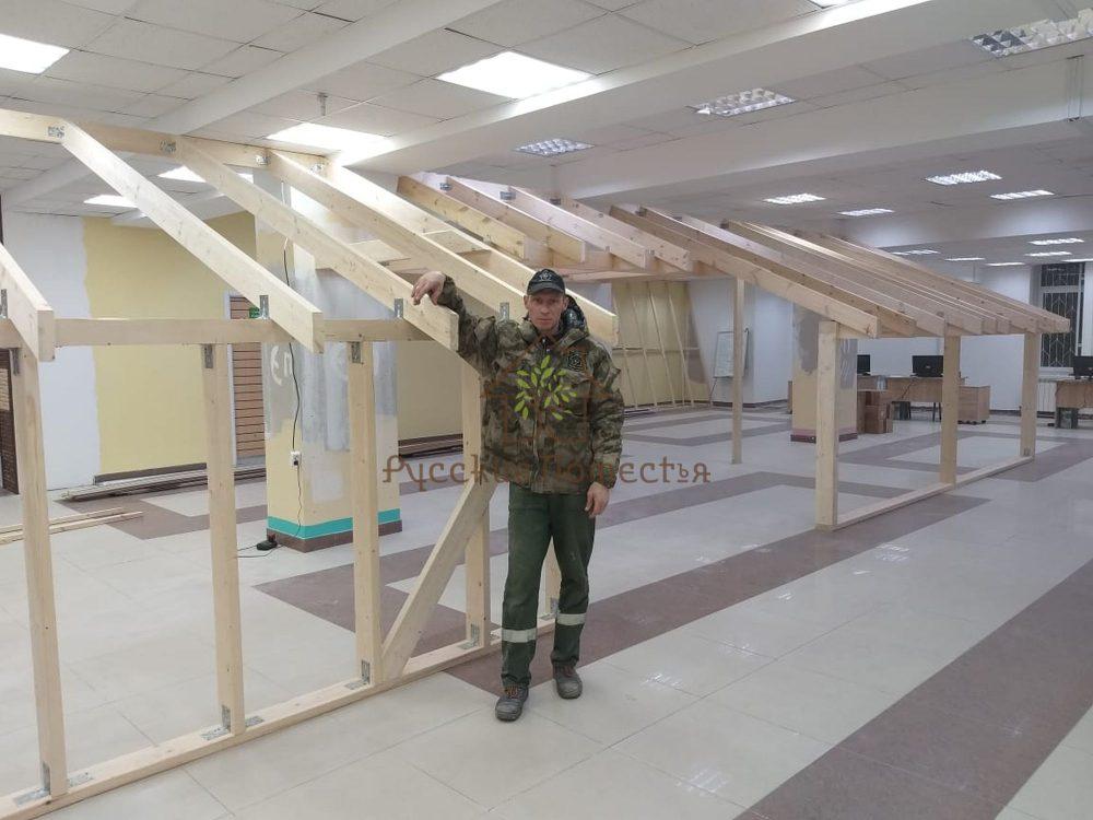 Завершено строительство выставочного стенда для наших партнёров из сети строительных магазинов